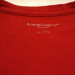 Liz Lange for Target Tops - Liz Lange maternity t-shirt red sz L